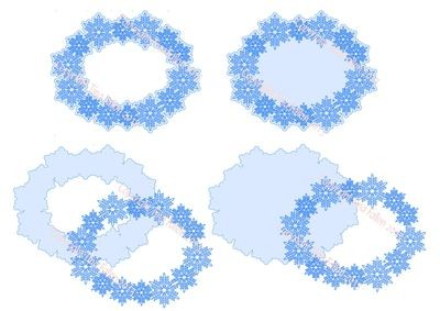 Frosty Kissed Snowflake 10 Toppers