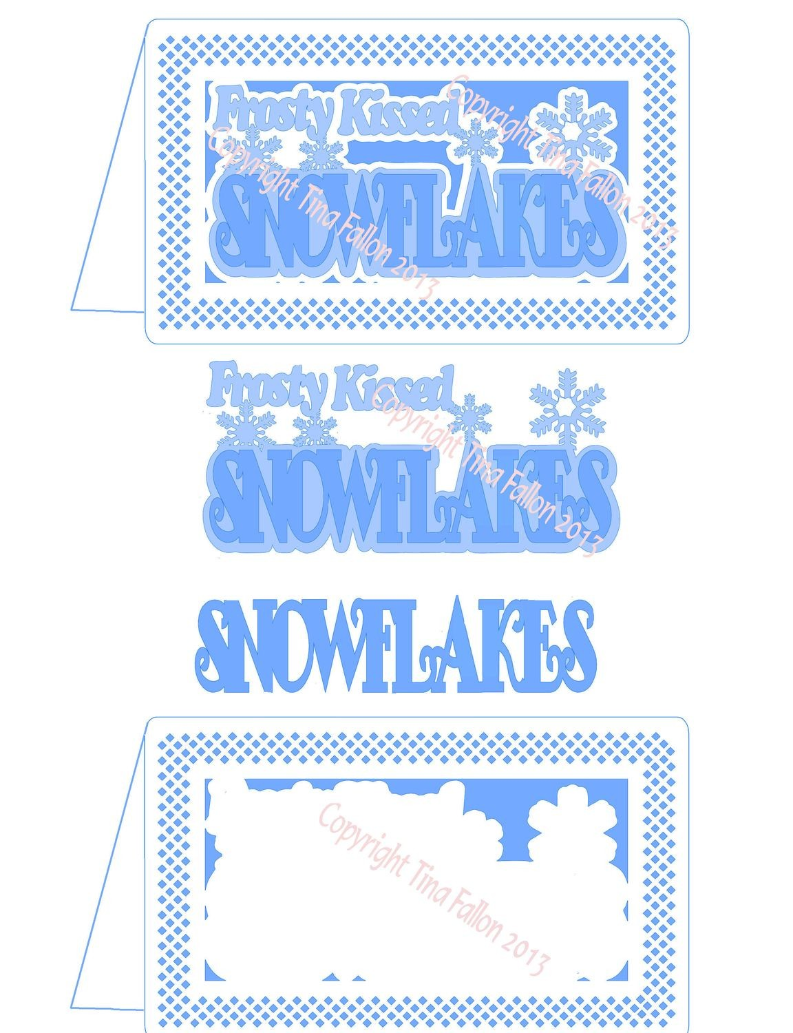 Frosty Kissed Snowflake 8 Card Template