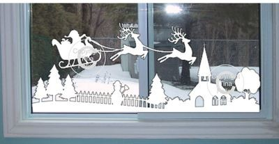 Christmas Winter Village Window Scene  pt 1