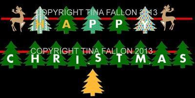 Christmas TREE bunting