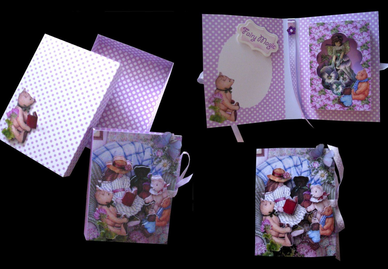 Print and Cut Girl and Bears Combi Card Box