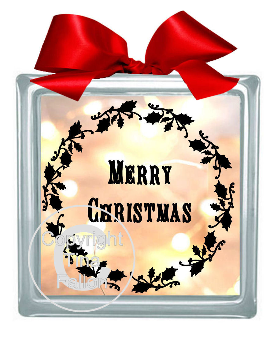 Holly and Merry Christmas Vinyl design for Christmas
