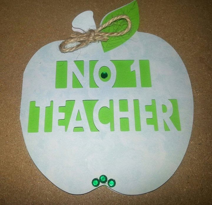 Teacher Card No 1 in Apple