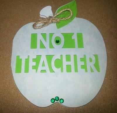Teacher Card No 1 in Apple