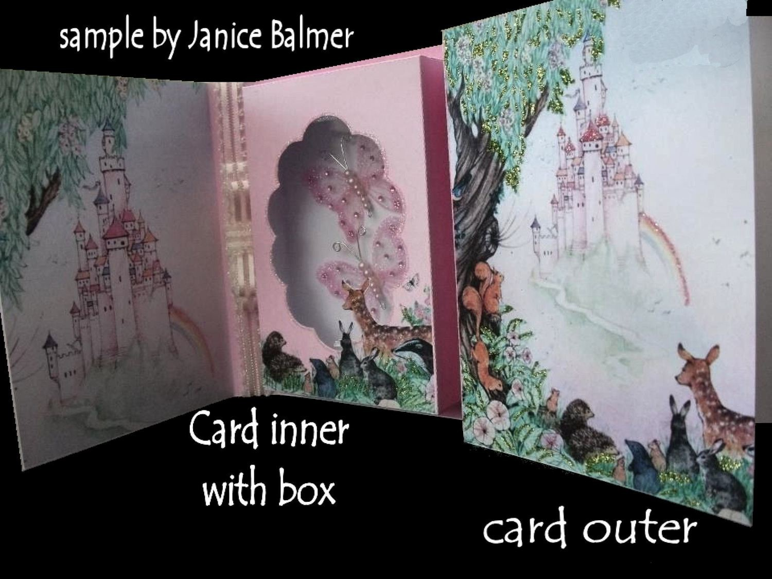 Fairy Castle Combi Card and Gift Box  Design No 1