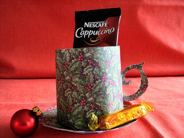 Christmas Holly Mug and Saucer Set