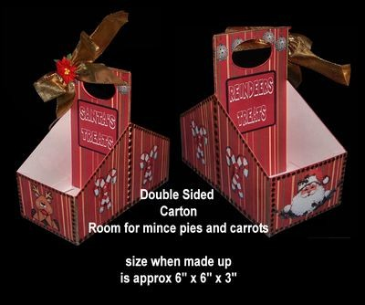 Double Sided Santa and Reindeer Carton Print n Cut