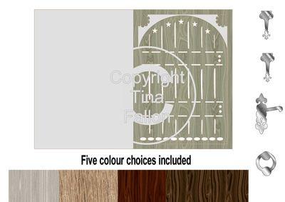 Fairy Door Card templates print n cut * Set 1 *