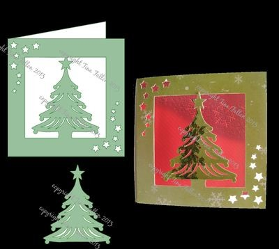 Card Template Tree cut out