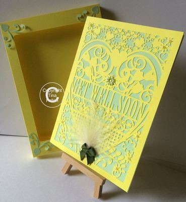 Get Well Soon Card (with box)  beautiful cutout design