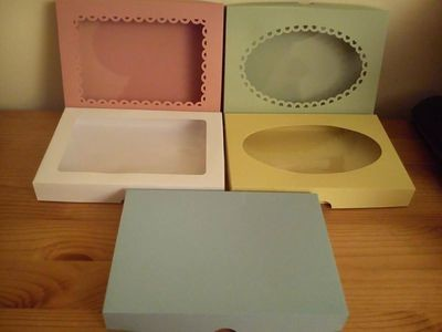 Card Box, with 5 lid choices. Pre-sized to take A6 card