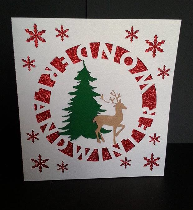 Winter wonderland Square Card Template and Topper