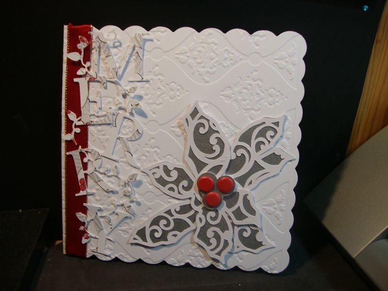 Filigree Christmas Holly Topper with layers -  see samples in gallery