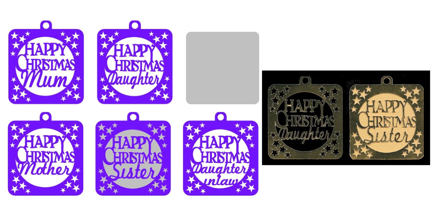 Family Christmas Tags  B ( Female relations)