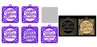 Family Christmas Tags  B ( Female relations)