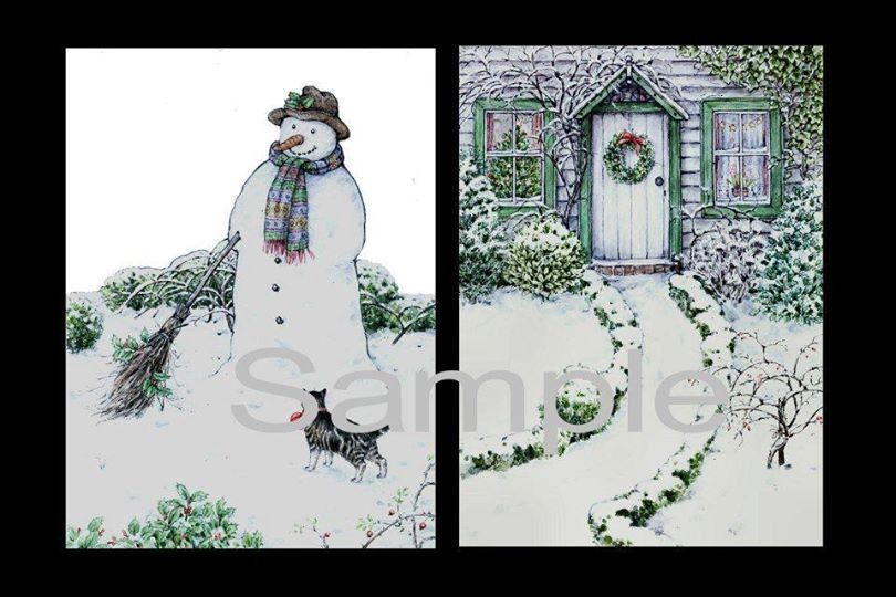 Snowmans Friend  Decoupage Print N cut for Cameo
