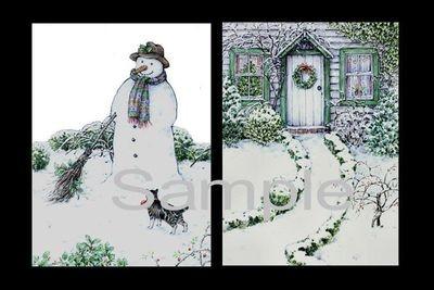 Snowmans Friend  Decoupage Print N cut for Cameo