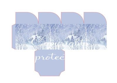 Winter Forest - Christmas Treat Box  Print N cut for Cameo