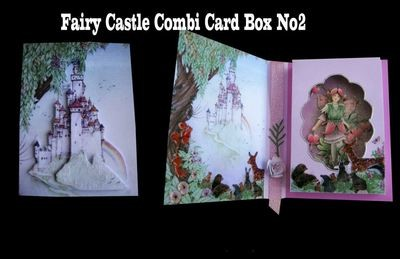 Fairy Castle Combi Card and Gift Box * Design No 2