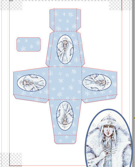 Snow Queen  Christmas Treat Box  Print N cut for Cameo