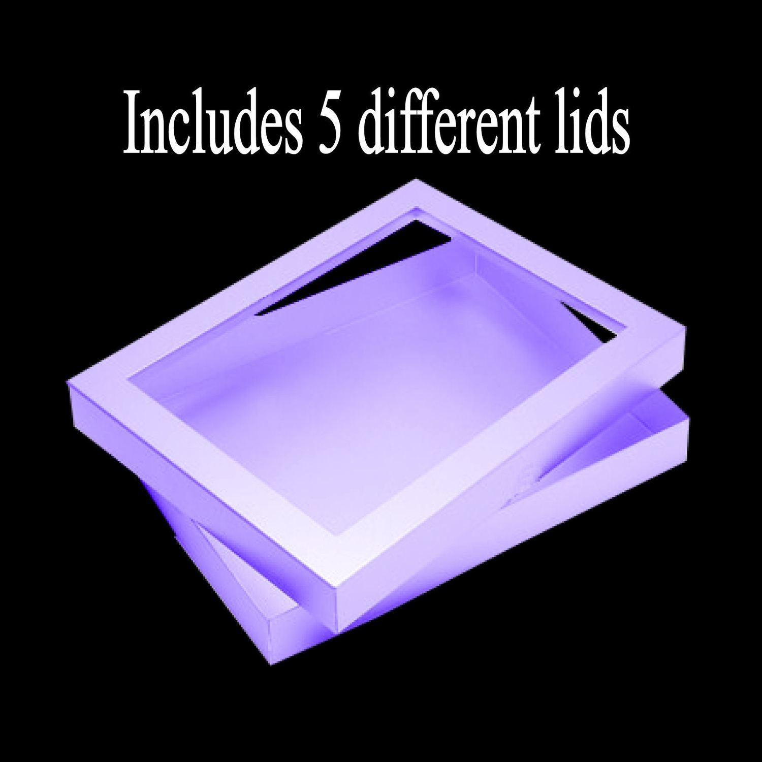 VERY LARGE Card / Presentation Box - presized to 10.5 x 8 x .5 inches.
