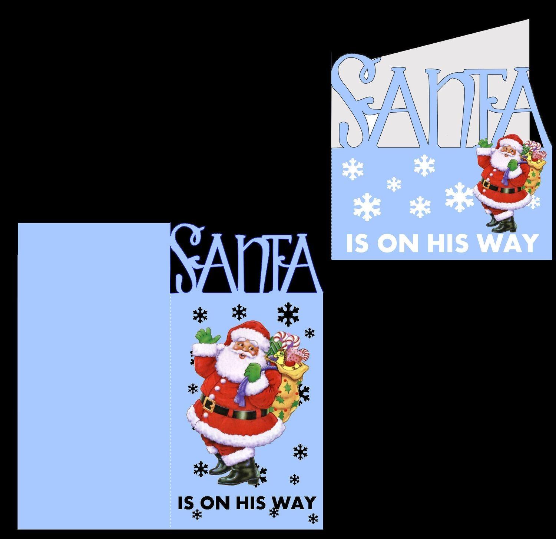 Santa is on his way - card blanks