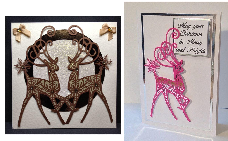 Snowflake Reindeer Christmas Toppers x 2 designs