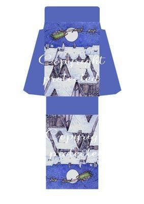 Rooftops - Christmas Bag  Print N cut for Cameo