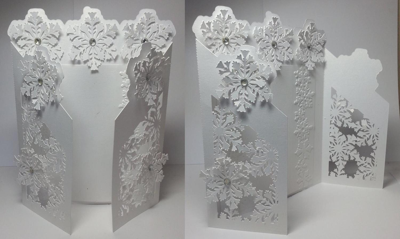 Frozen Snowflake Christmas Gatefold Card