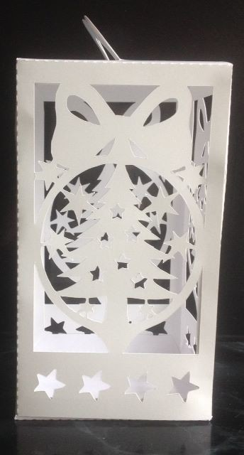 Christmas Tree cut out  Luminaire or gift box