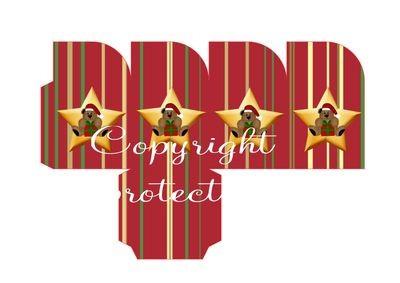 Star Bear Christmas Treat Box  Print N cut for Cameo