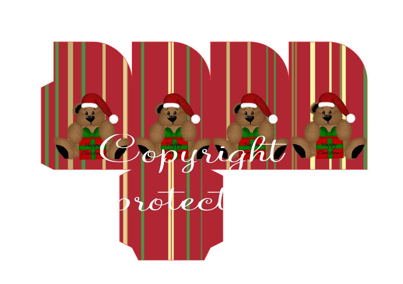 Beary Christmas Christmas Treat Box  Print N cut for Cameo