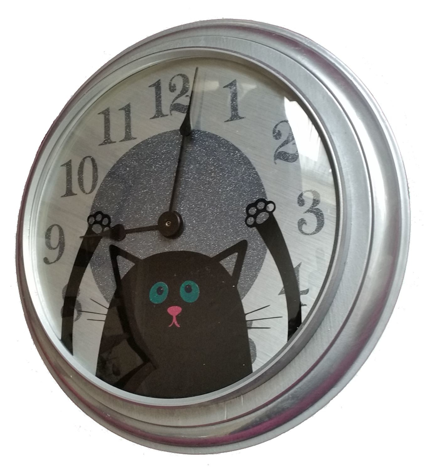Clock Face with cat detail  complete design - cutting file - Upcyle your clock for a new look svg studio and fcm with instructions
