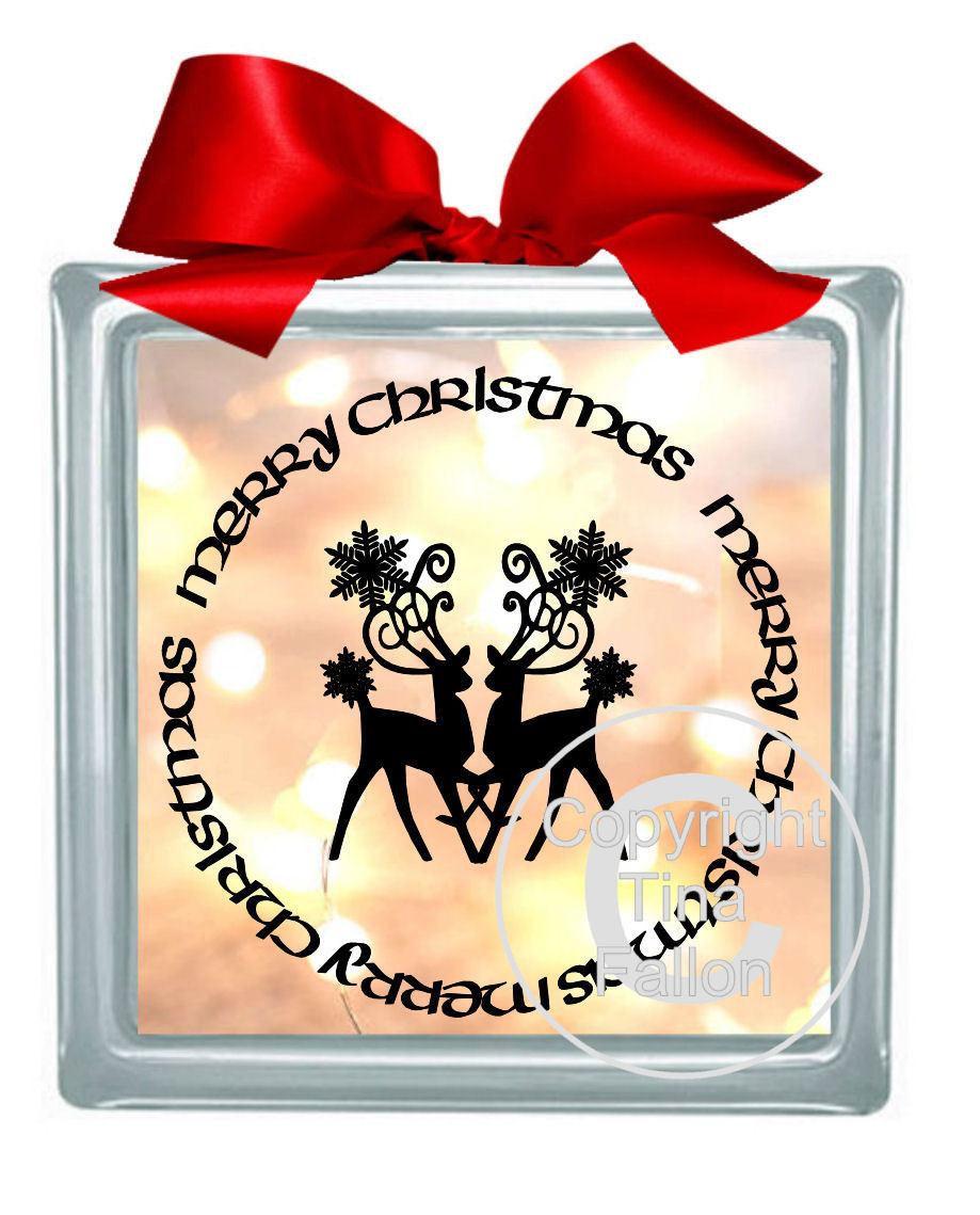 Reindeer Duo Vinyl design for Christmas