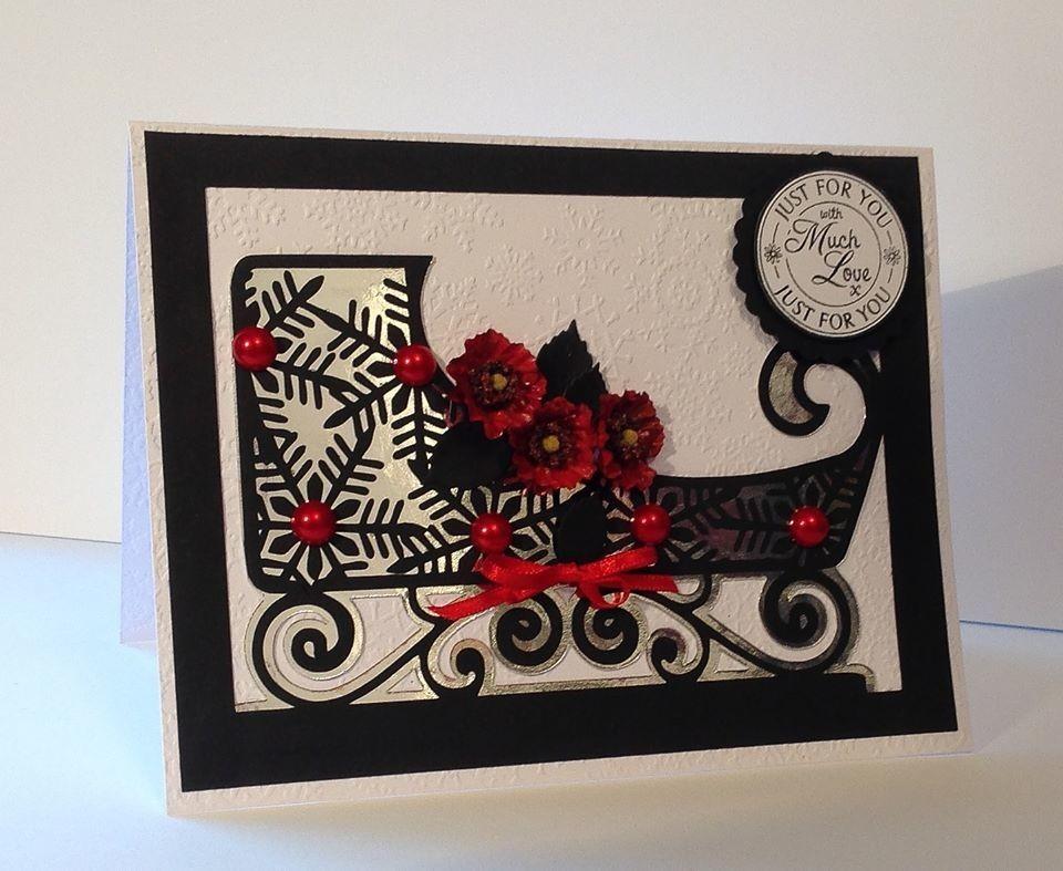 Snowflake SLEIGH Christmas Card Template