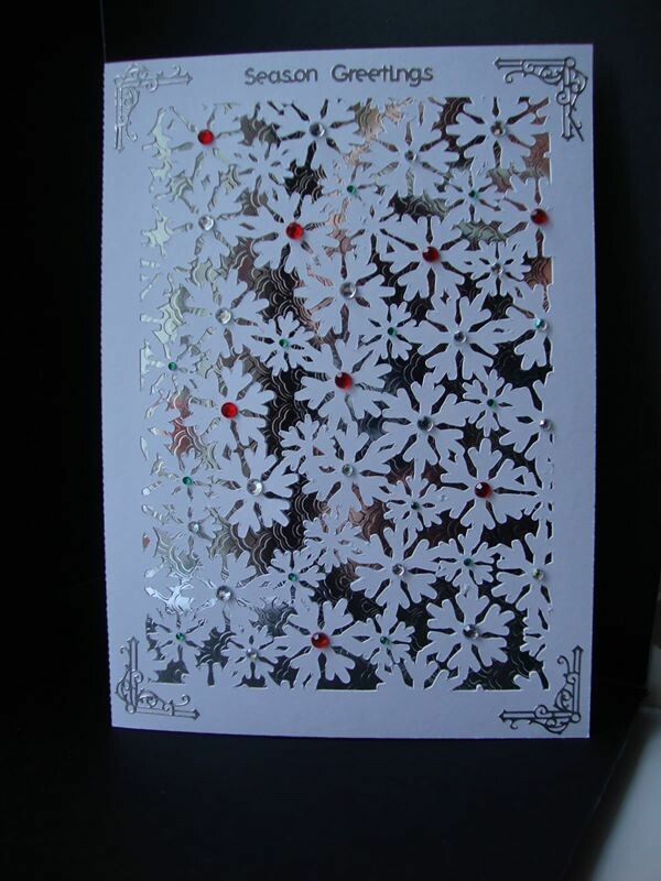 Card Template Snowflake background .