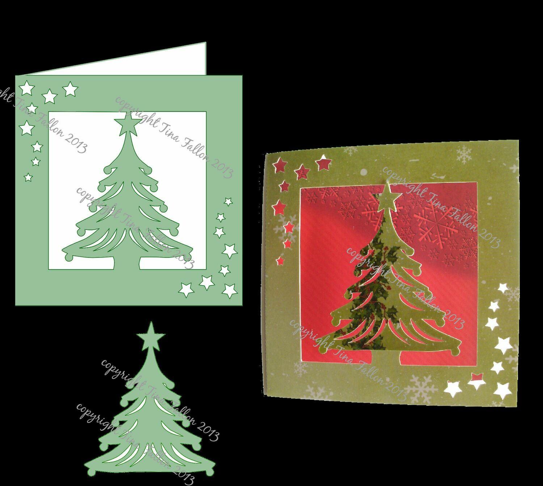 Card Template  Christmas Tree