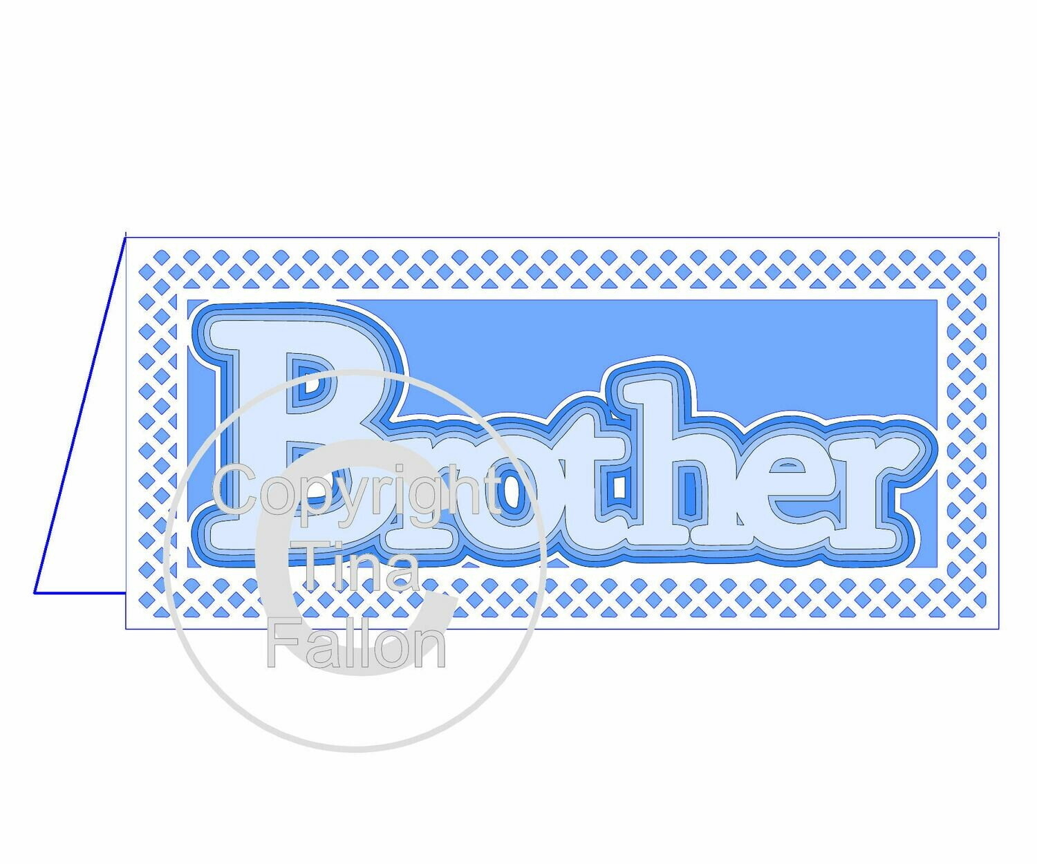 Brother Card with layered word topper