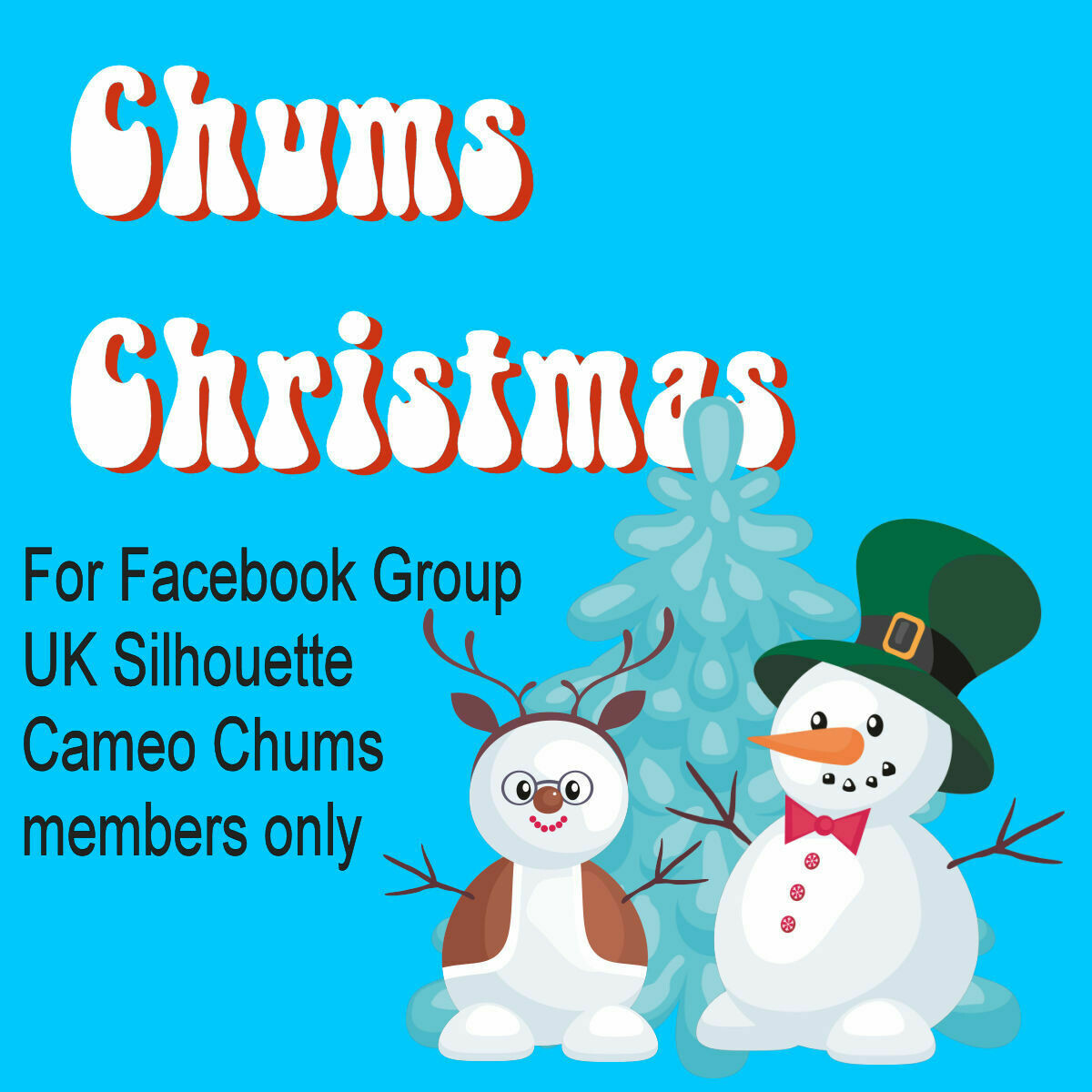 1 ticket for Christmas Facebook Group UK Silhouette Cameo Chums group members only