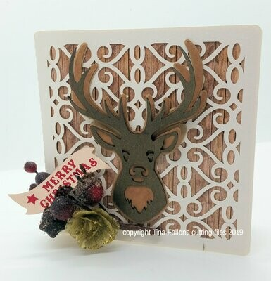 Deer Christmas Card  Square Card