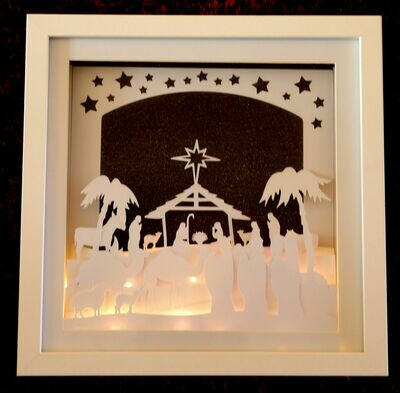 Nativity Christmas Scene - Multi layered & suitable for Shadow Box frame