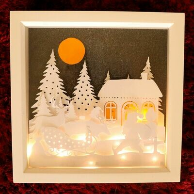 Twas the Night before Christmas Scene - Multi layered & suitable for Shadow Box frame.