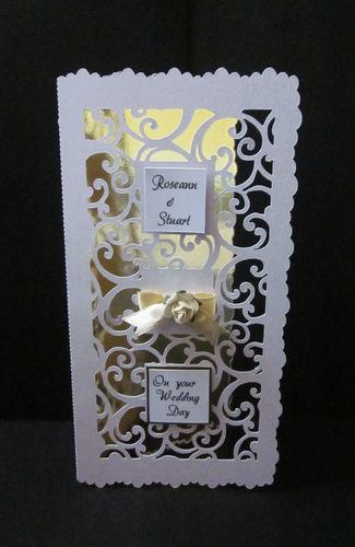 Filigree Design Set DL 2 DL card with centre filigree panel.