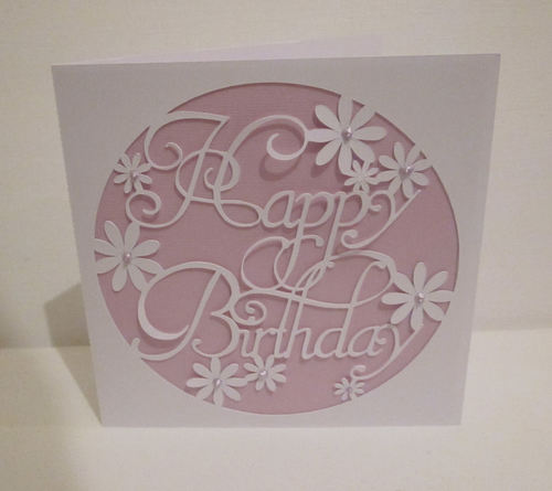 Happy Birthday 3  Card Template  FCM