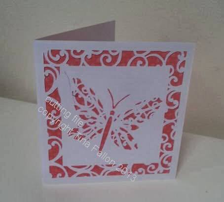 Filigree Butterfly Card Template