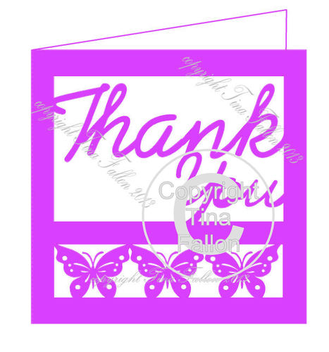 Thank You Card Template No4