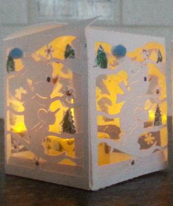 Snow Penguin  Luminaire or gift box