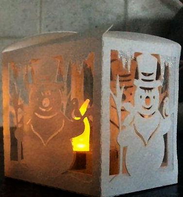 Snowman  Luminaire or gift box