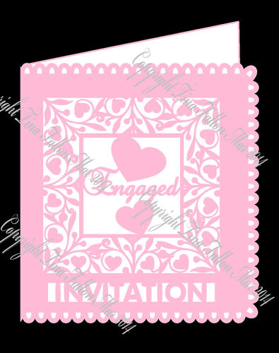 Engaged Invitation card template