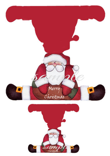 Santa Shaped Card Print N Cut